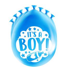 8 party ballonnen geboorte jongen