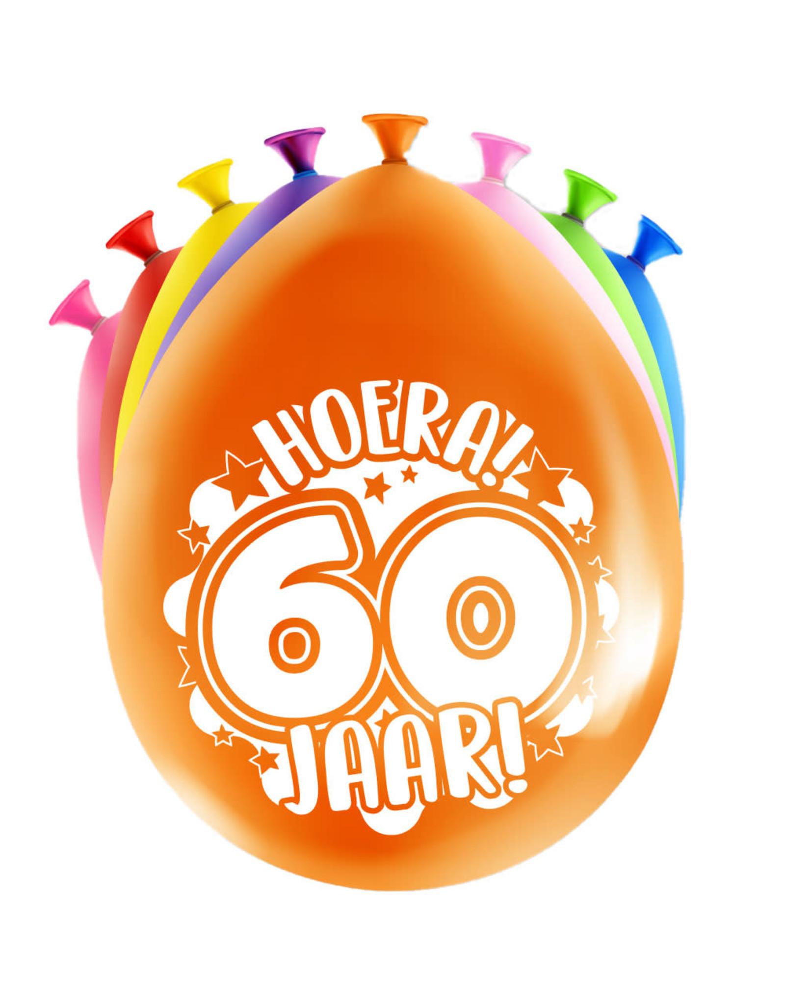 8 party ballonnen 60 jaar