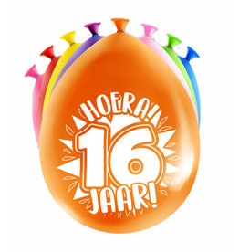 8 party ballonnen 16 jaar