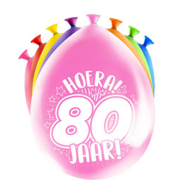 8 party ballonnen 80 jaar