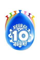 8 party ballonnen 10 jaar