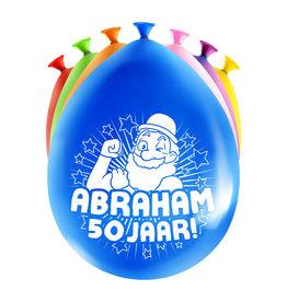 8 party ballonnen abraham