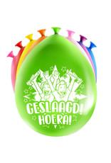 8 party ballonnen geslaagd