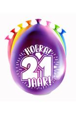 8 party ballonnen 21 jaar