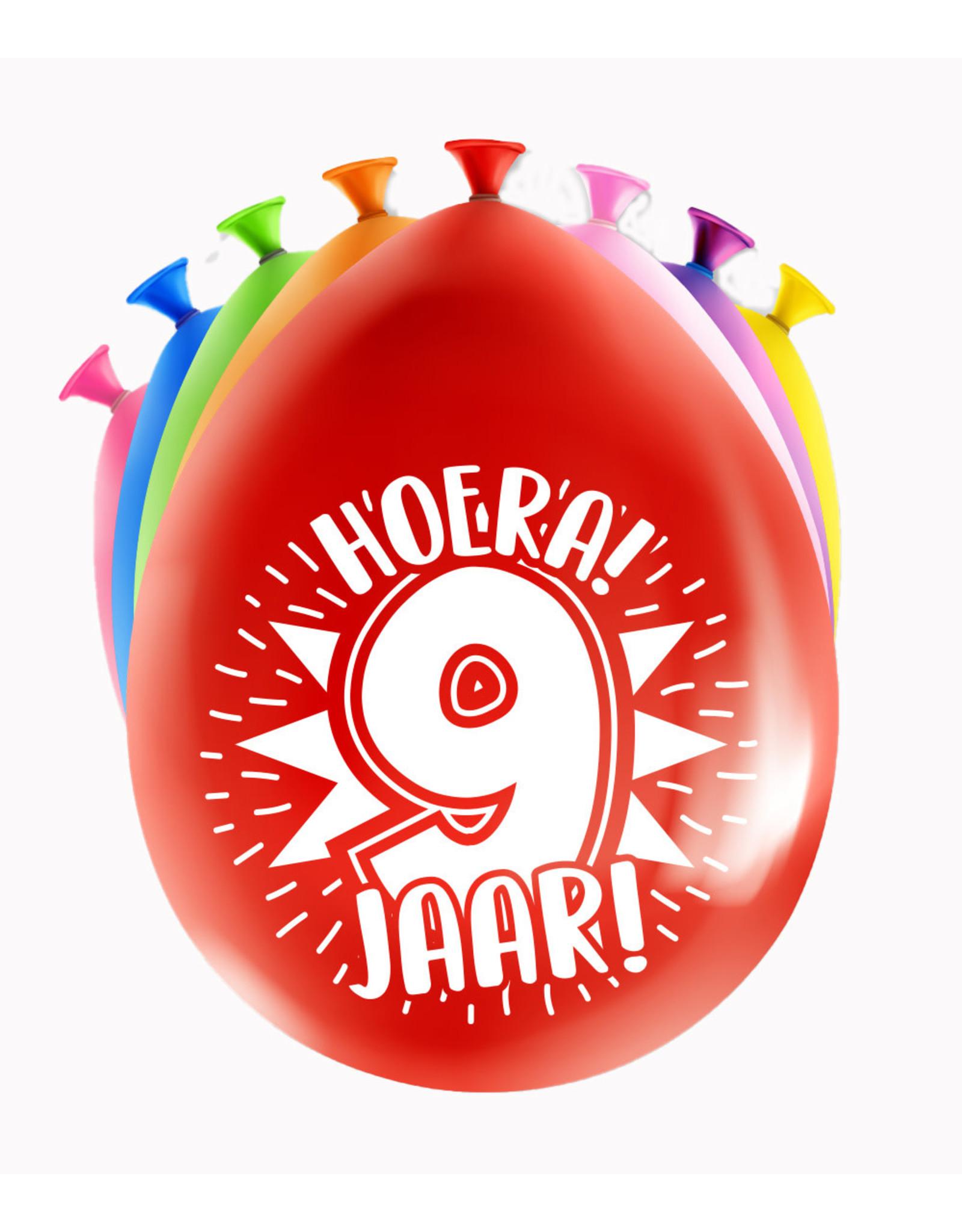 8 party ballonnen 9 jaar