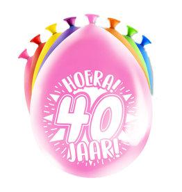 8 party ballonnen 40 jaar