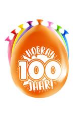 8 party ballonnen 100 jaar