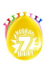 8 party ballonnen 7 jaar
