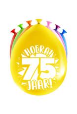 8 party ballonnen 75 jaar