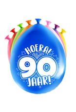 8 party ballonnen 90 jaar