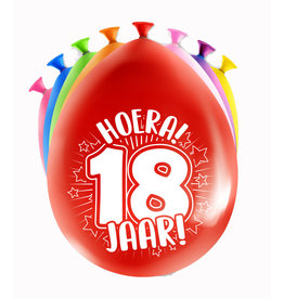 8 party ballonnen 18 jaar