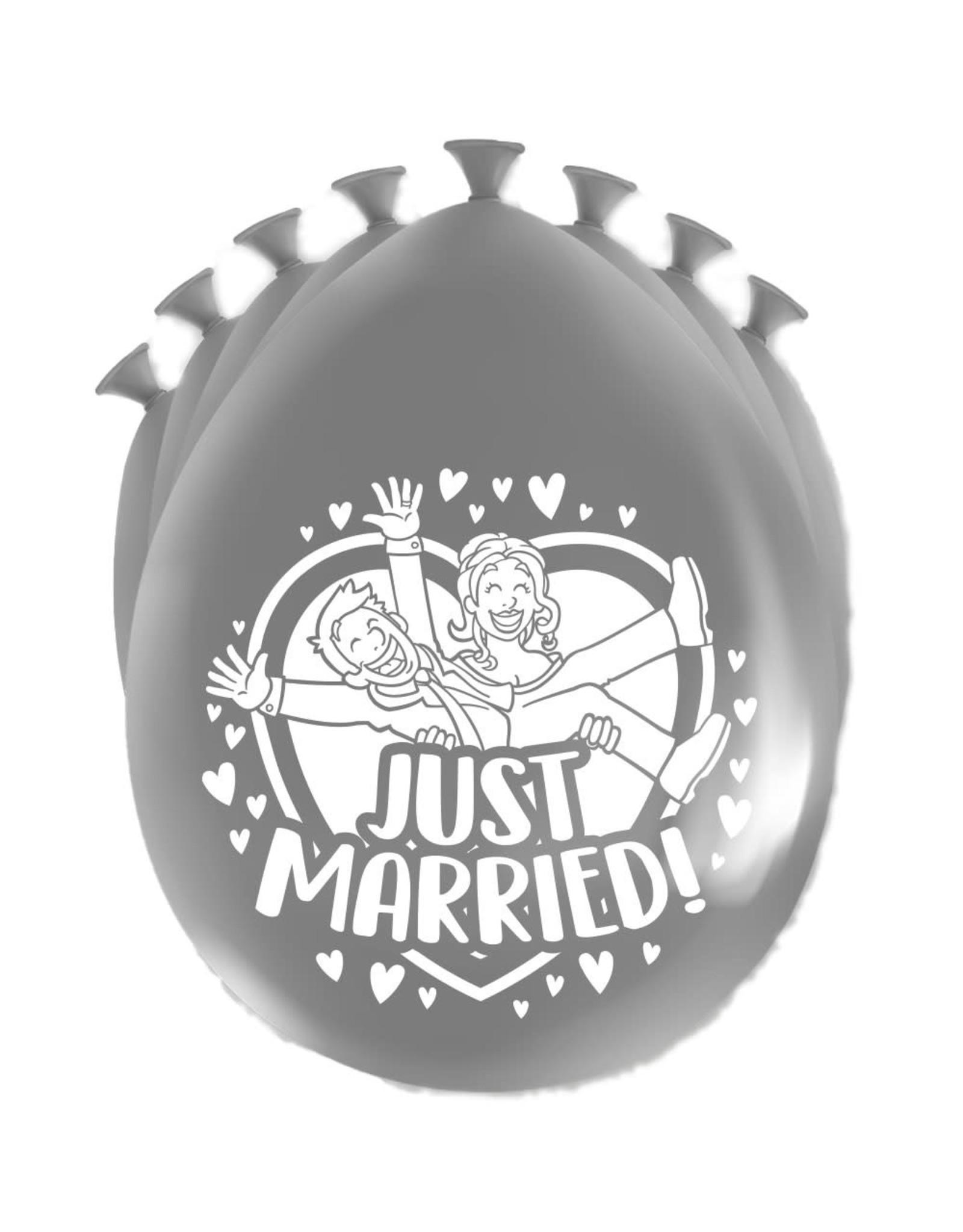 8 party ballonnen just married