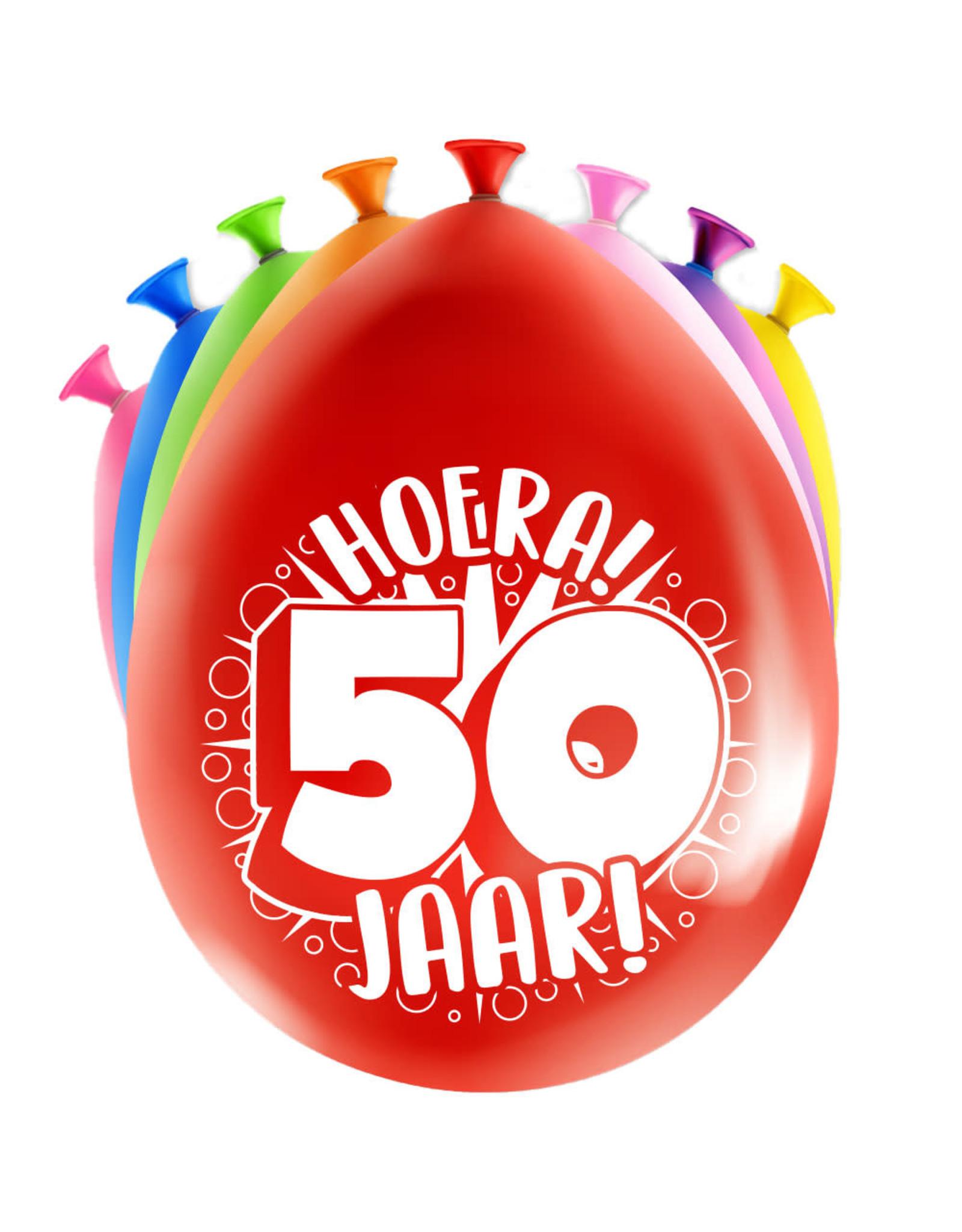 8 party ballonnen 50 jaar