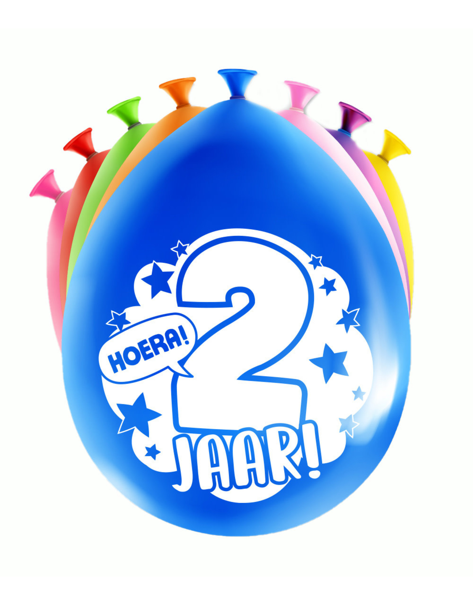 8 party ballonnen 2 jaar