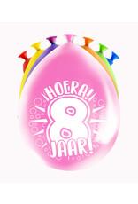 8 party ballonnen 8 jaar