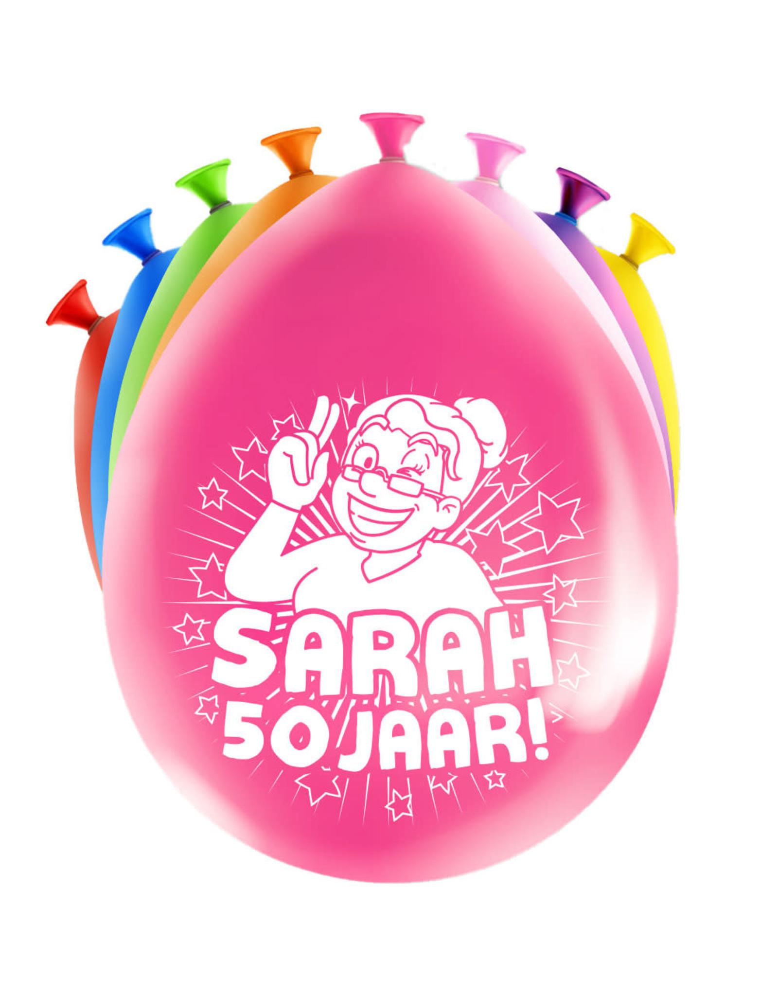 8 party ballonnen Sarah