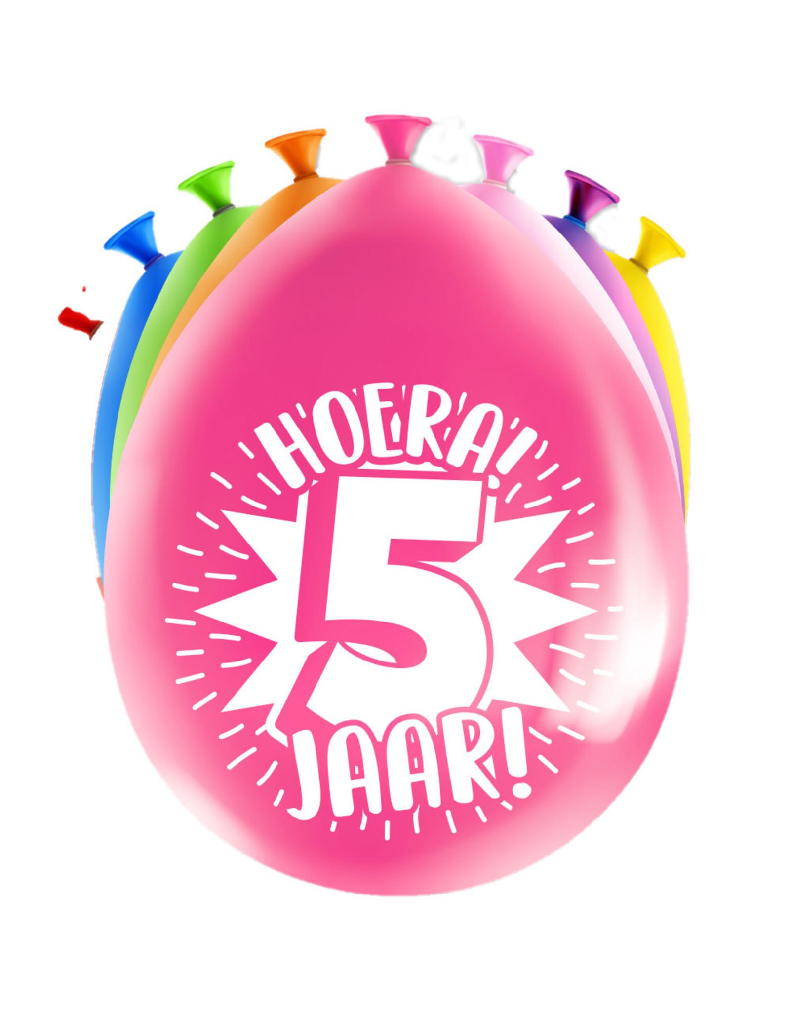 8 party ballonnen 5 jaar