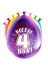 8 party ballonnen 4 jaar
