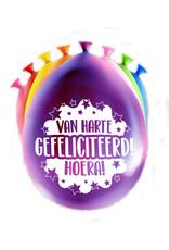 8 party ballonnen van harte gefeliciteerd