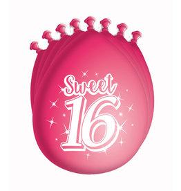 8 party ballonnen  sweet 16