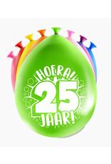 8 party ballonnen 25 jaar