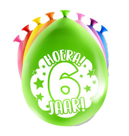 8 party ballonnen 6 jaar