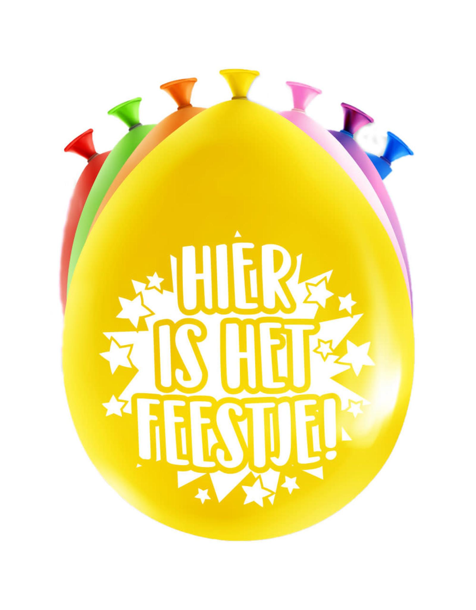 8 party ballonnen hier is het feestje