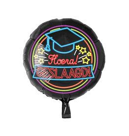 Neon folieballon hoera geslaagd!