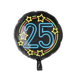 Neon folieballon 25 jaar