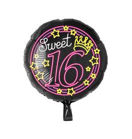 Neon folieballon sweet 16