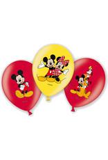 Amscan latex ballonnen Mickey Mouse 6 stuks
