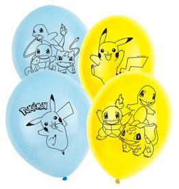 Amscan latex ballonnen Pokémon 6 stuks