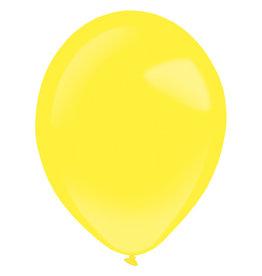 Amscan latex st. Yellow sunshine 5 inch 100 stuks