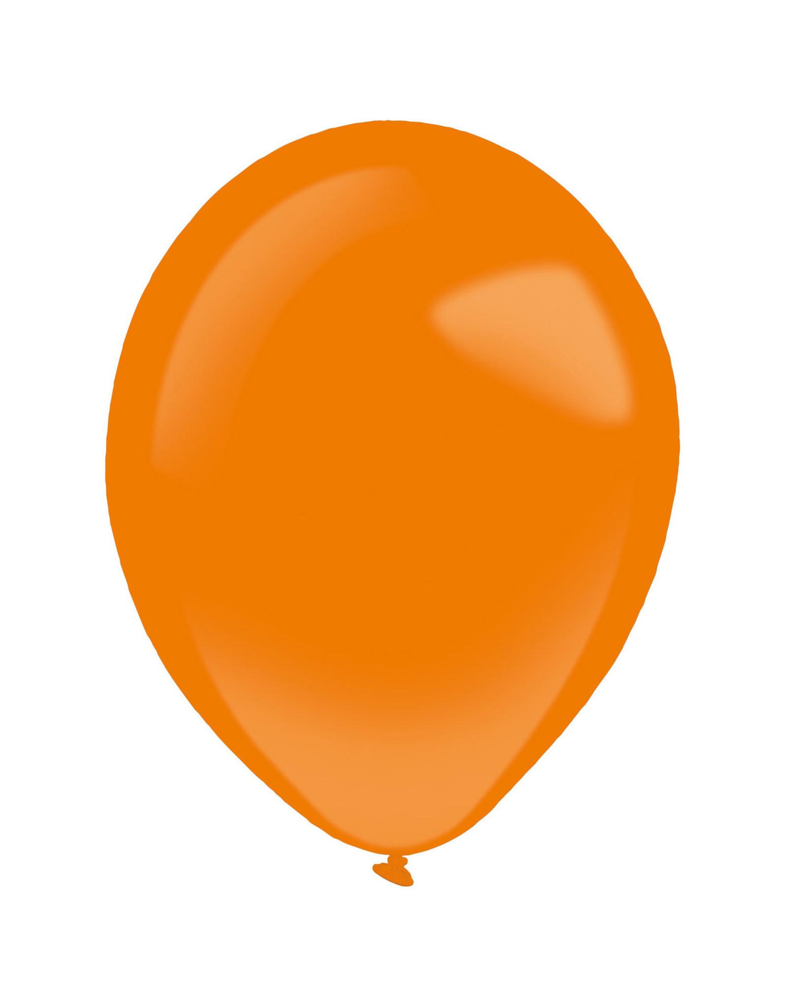 Amscan latex standard tangerine 5 inch 100 stuks