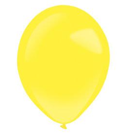 Amscan latex standard yellow sunshine 11 inch 50 stuks