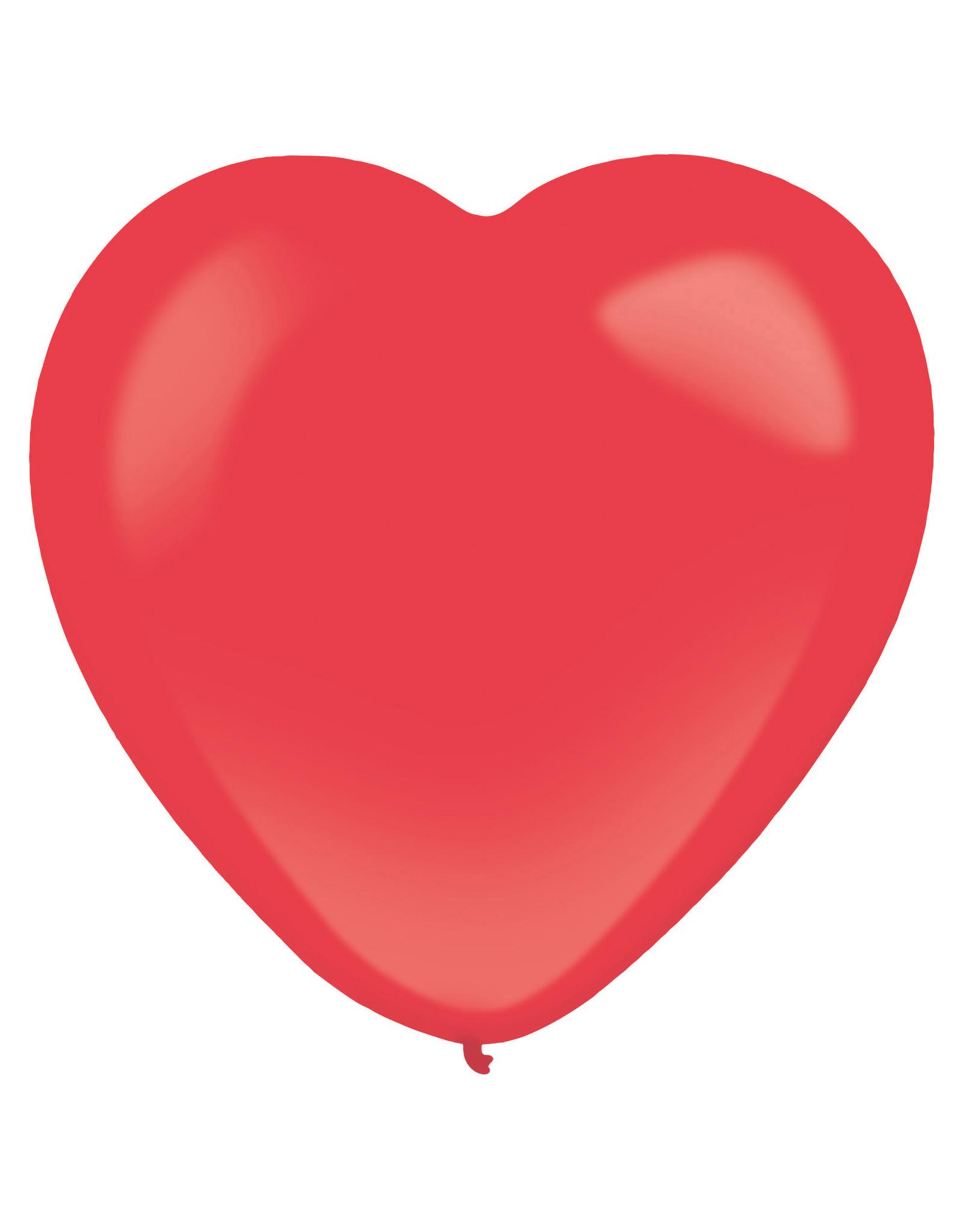 Amscan latex hartballon rood 12 inch 50 stuks