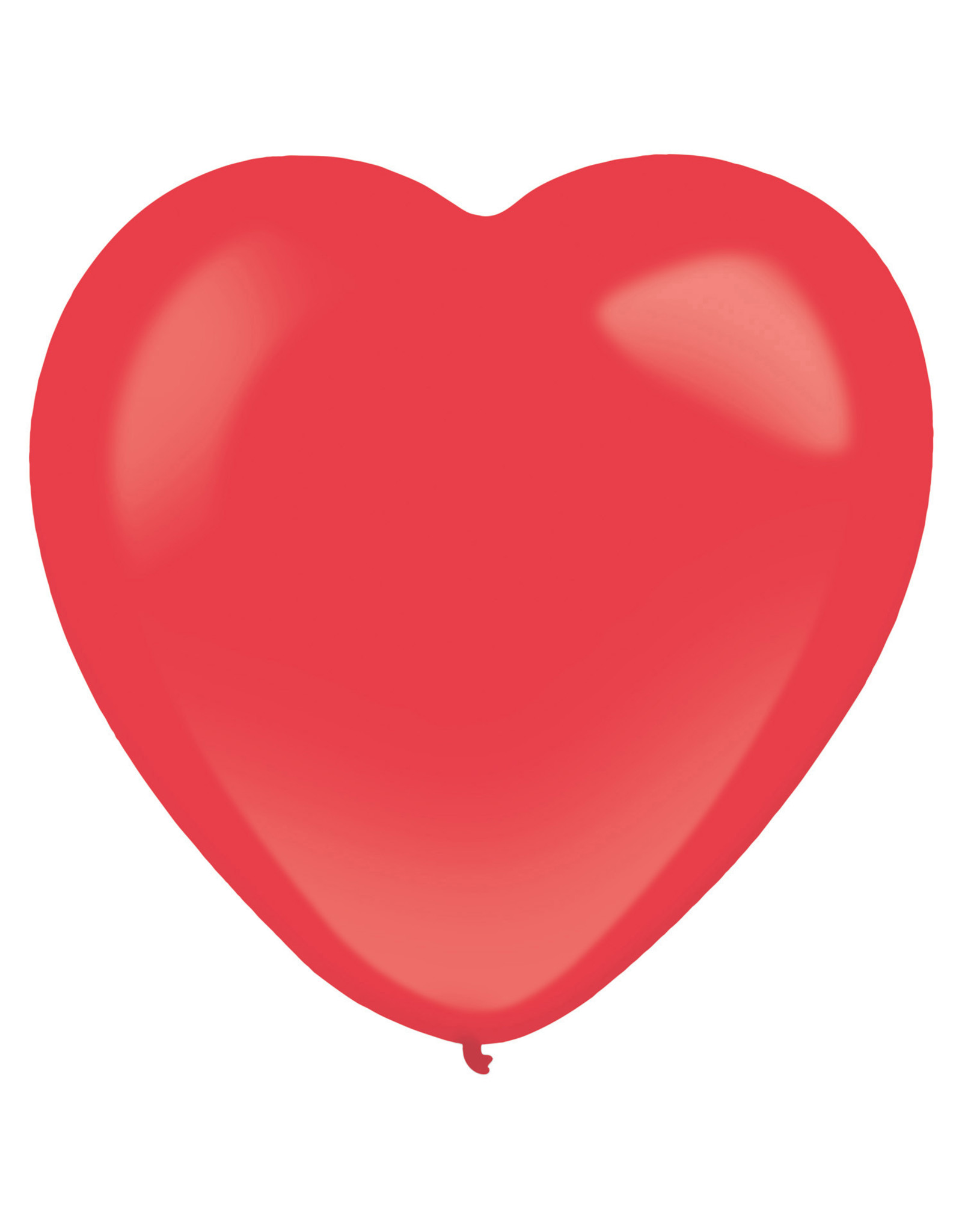 Amscan latex hart ballon 16 inch 10 stuks