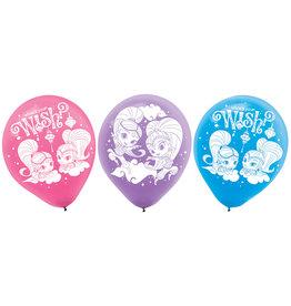 Amscan latex ballonnen Shimmer & Shine 6 stuks