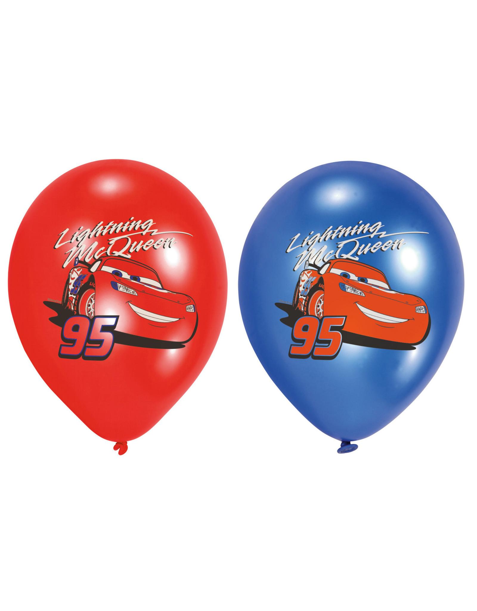 Amscan latex ballonnen Cars 6 stuks