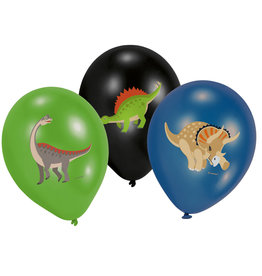 Amscan latex ballonnen Dino 6 stuks