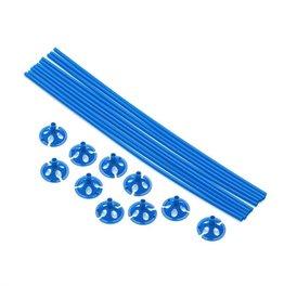 Ballon draagsticks donker blauw 10 stuks