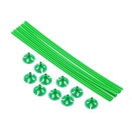 Ballon draagsticks groen 10 stuks