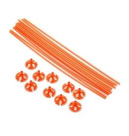 Ballon draagsticks oranje 10 stuks