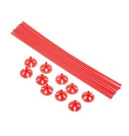 Ballon draagsticks rood 10 stuks