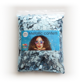 Confetti metallic baby blauw 10 mm 250 gram