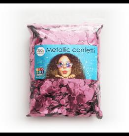 Confetti metallic baby roze 10 mm 250 gram