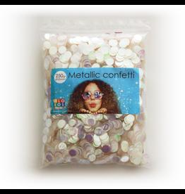 Confetti metallic iridescent 10 mm 250 gram