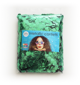 Confetti metallic groen 10 mm 250 gram