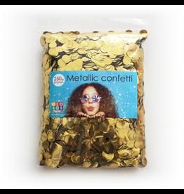 Confetti metallic goud 10 mm 250 gram