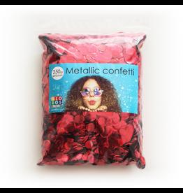 Confetti metallic rood 10 mm 250 gram